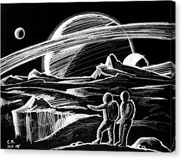 Saturn Visitors Canvas Print by Daniel House