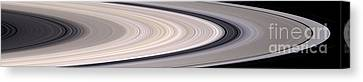 Saturns Ring System Canvas Print by Stocktrek Images