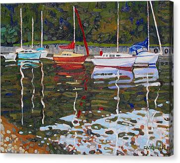 Saugeen Sailboats Canvas Print by Phil Chadwick