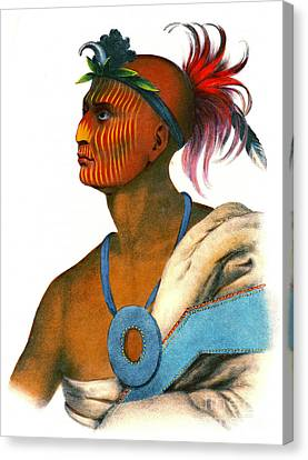 Canvas Print featuring the photograph Sauk Warrior 1842 by Padre Art