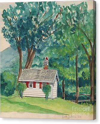 Sauna At Murray Hollow Canvas Print by Fred Jinkins