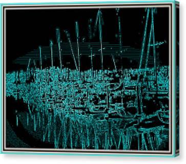 Sausalito Harbor Digitalized Canvas Print