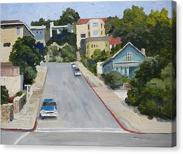 Sausalito Canvas Print - Sausalito Street by Maralyn Miller
