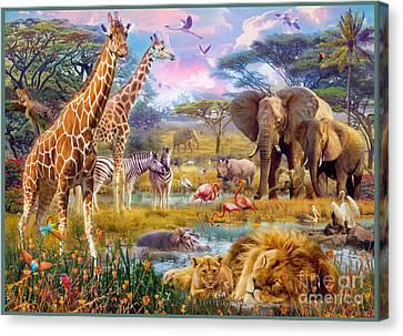 Savannah Animals Canvas Print by Jan Patrik Krasny