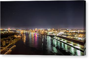Savannah Georgia Skyline Canvas Print