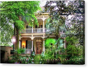 Savannah Historic House Canvas Print by Mark Andrew Thomas