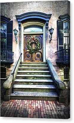 Canvas Print featuring the photograph Savannah House 5 by Anthony Baatz