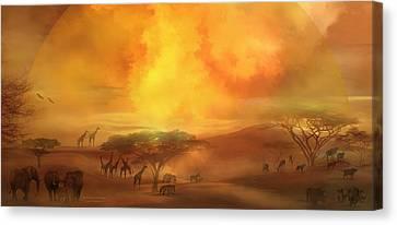 Savannah Landscape Canvas Print by Carol Cavalaris