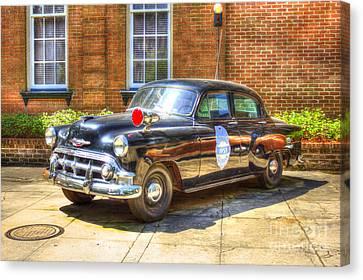 Savannah Police Car 1953 Chevrolet  Canvas Print by Reid Callaway