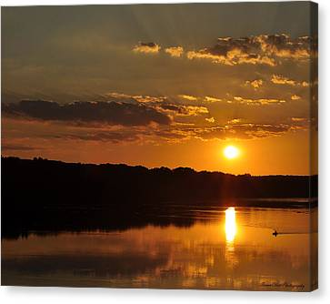 Savannah River Sunset Canvas Print