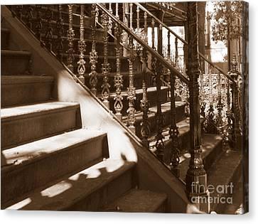Savannah Sepia - Stairs Canvas Print by Carol Groenen