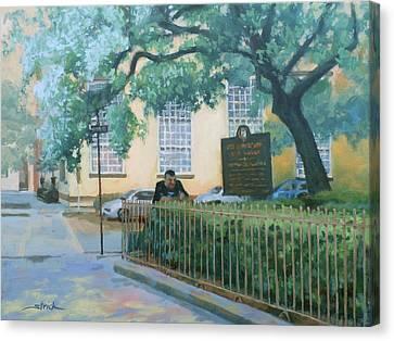 Savannah Shade Canvas Print by Carol Strickland