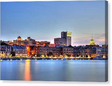 Savannah Skyline Canvas Print by Shawn Everhart