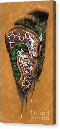 Savannah Tenderness Canvas Print by Sandra SanTara