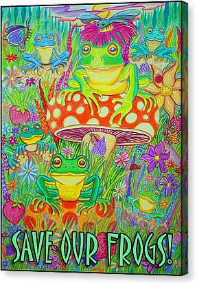 Save Our Frogs Canvas Print