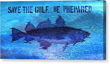 Save The Gulf America Canvas Print