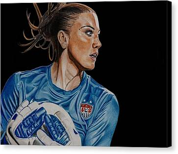 Goalkeeper Canvas Print - Saved By Hope by Brian Broadway