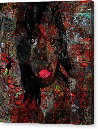 Saved From Hellish Moments Canvas Print by Fania Simon