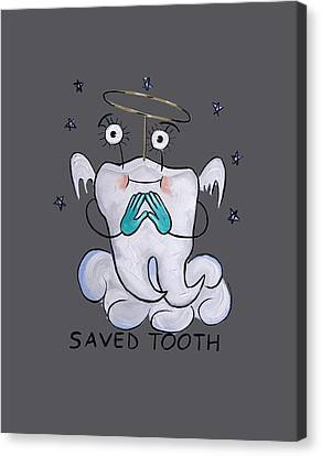 Saved Tooth T-shirt Canvas Print by Anthony Falbo