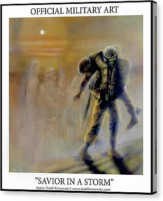 Savior In A Storm Canvas Print by Todd Krasovetz
