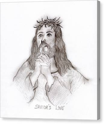 Savior's Love Canvas Print by Sonya Chalmers