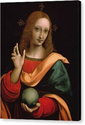 Saviour Of The World Canvas Print by Giovanni Pedrini Giampietrino