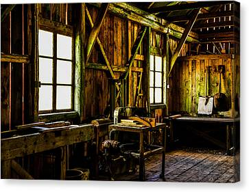 Old Mills Canvas Print - Saw Mill by Tommytechno Sweden