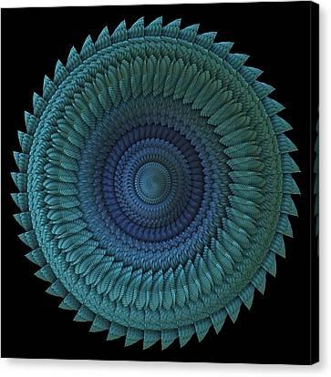 Canvas Print featuring the digital art Sawblade by Lyle Hatch