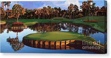 Sawgrass 17th Hole Hol Canvas Print