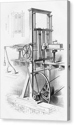 Sawmill. From Cyclopaedia Of Useful Canvas Print