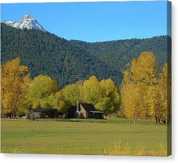 Robert Morrissey Canvas Print - Sawtooth  by Robert Morrissey