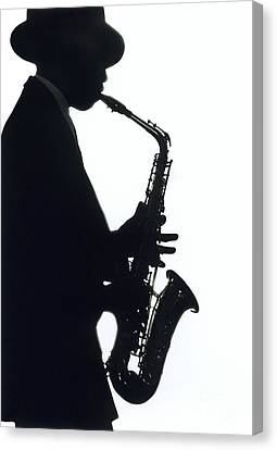 Sax 2 Canvas Print by Tony Cordoza