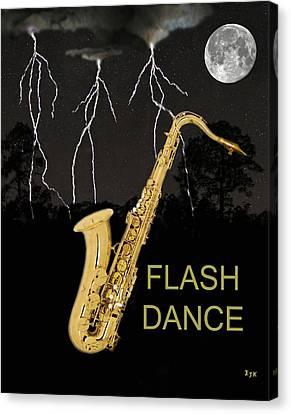 Sax Flash Dance Canvas Print