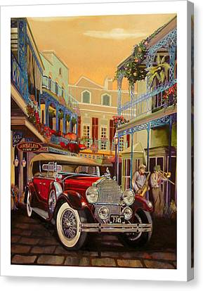 Sax In The City Canvas Print by Mike Hill
