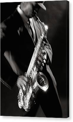 Sax Man 1 Canvas Print by Tony Cordoza