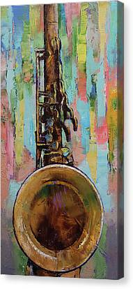 Musique Canvas Print - Sax by Michael Creese