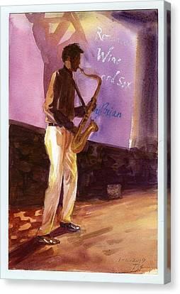 Sax Canvas Print by Ping Yan
