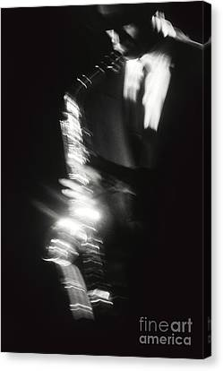 Sax Player 3 Canvas Print by Tony Cordoza