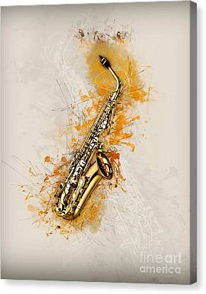 Concert Images Canvas Print - Saxaphone Art by Ian Mitchell