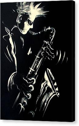 Saxojazz1 Canvas Print