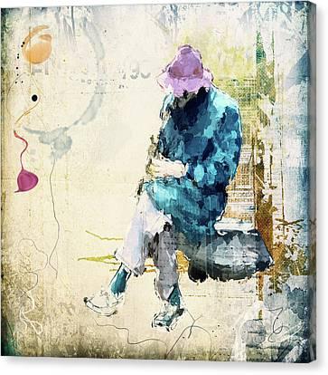 Saxophon Player Canvas Print