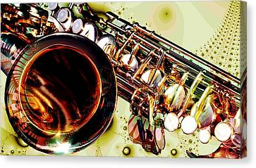 Saxophone Bell - Fantasy - Musical Instruments Canvas Print