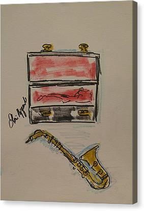 Saxophone Canvas Print by Geraldine Myszenski