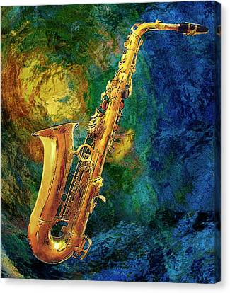Saxophone Canvas Print by Jack Zulli