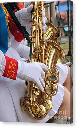 Saxophone Players Canvas Print by Yali Shi