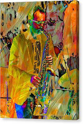 Saxophonist Canvas Print by Dorothy Berry-Lound