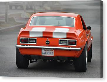 Canvas Print featuring the photograph Say Bye S S Camaro by Bill Dutting