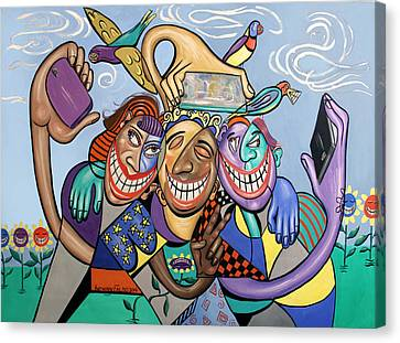 Say Cheese Selfie Canvas Print by Anthony Falbo
