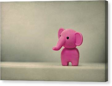 Say Hello To My Little Friend Canvas Print by Evelina Kremsdorf