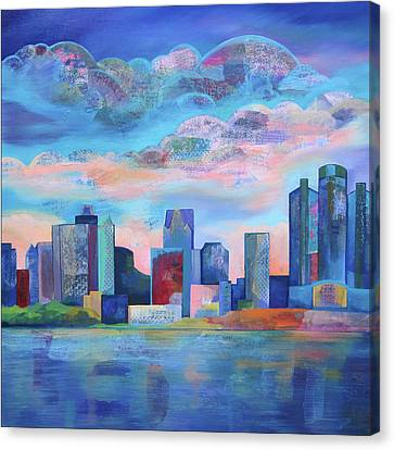 Say Nice Things About Detroit Canvas Print by Shadia Derbyshire